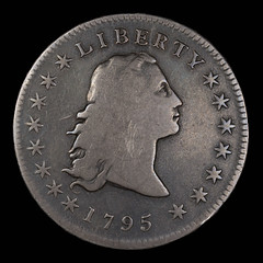 1795 Bust Dollar Love Token obverse