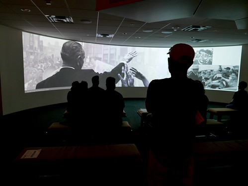 Introductory film presentation at the LBJ Library