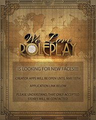 We Love RolePlay Creator Apps are open!!!