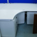 Demo 1000*1200 white radial cantilever desk E130