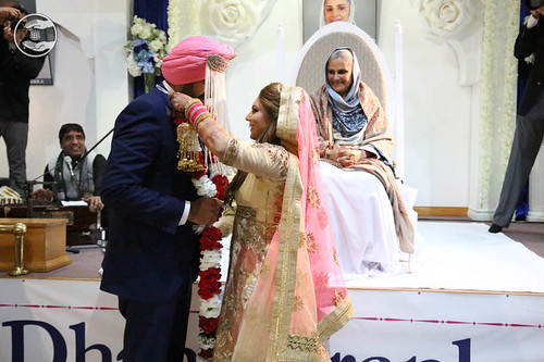 View of Simple Marriage ceremony in the Satsang