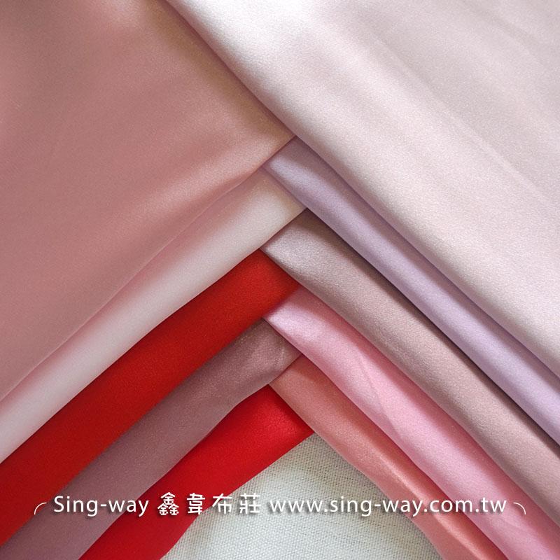 LD490045 紅粉色系 素面緞面 亮面節慶裝飾 桌巾 表演舞台禮服 衣服內裡 服裝布料
