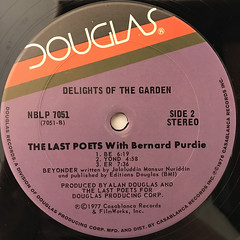 THE LAST POETS WIT BERNARD PURDIE:DELIGHTS OF THE GARDEN(LABEL SIDE-B)