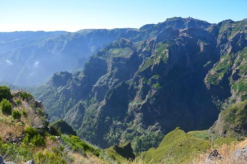 Blick auf die Berge im Landesinnern von Madeira