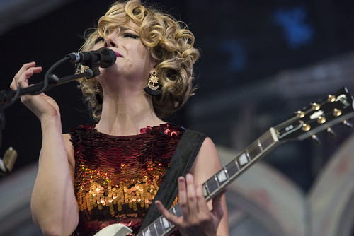 Samantha Fish in the Blues Tent during Jazz Fest day 1 on April 27, 2018. Photo by Ryan Hodgson-Rigsbee RHRphoto.com