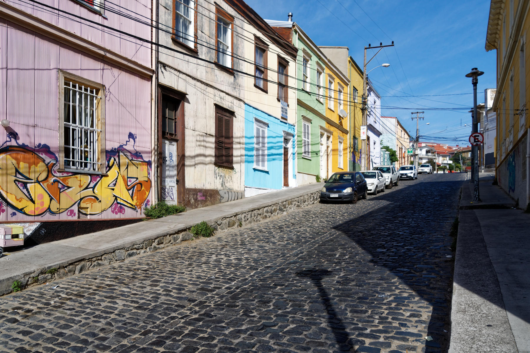 The colourful streets of Valparaiso