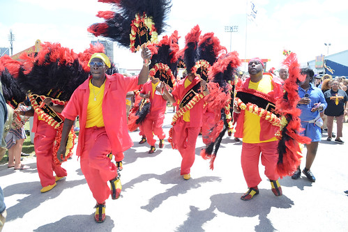 Men Buckjumpers Social Aid and Pleasure Club on parade on Day 4 of Jazz Fest - May 3, 2018. Photo by Leon Morris.