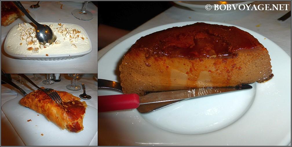 מרנד, שטרודל תפוחים ו- bonet ב- Osteria Da Gemma Roddino