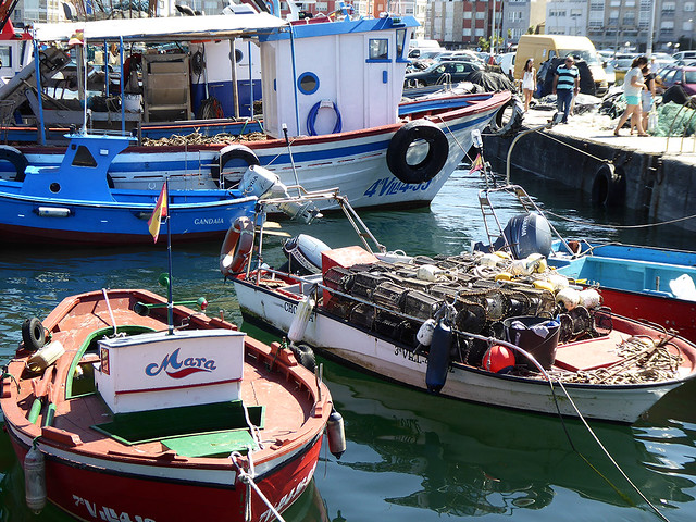 all along the Spanish coast are a multitude of small fishing boats that still ply the sea for local villages.
