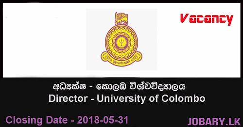 University of Colombo Vacancies – Director