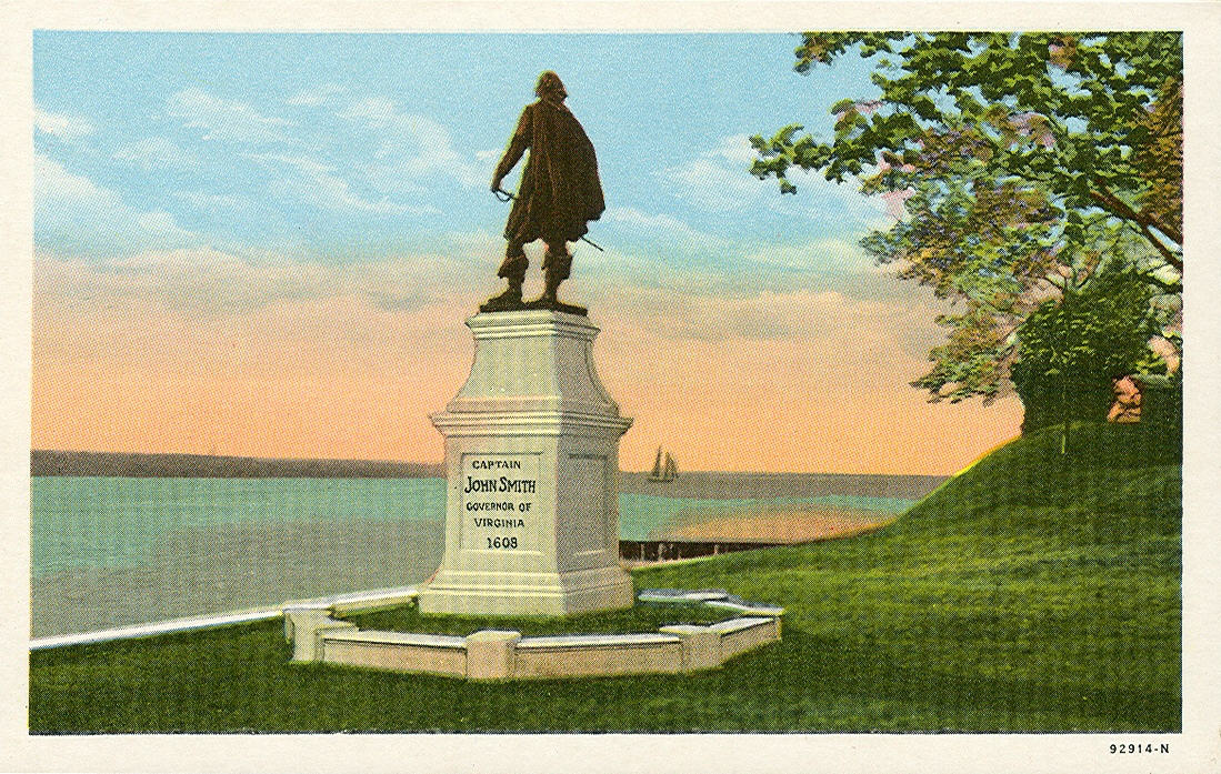 John Smith monument at Jamestown, Virginia.