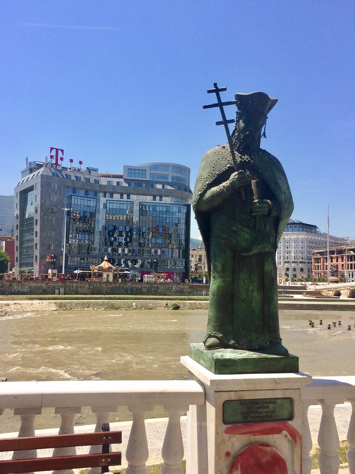 201705 - Balkans - Statue of a Saint by Vardar River - 58 of 66 - Skopje - Skopje, May 31, 2017