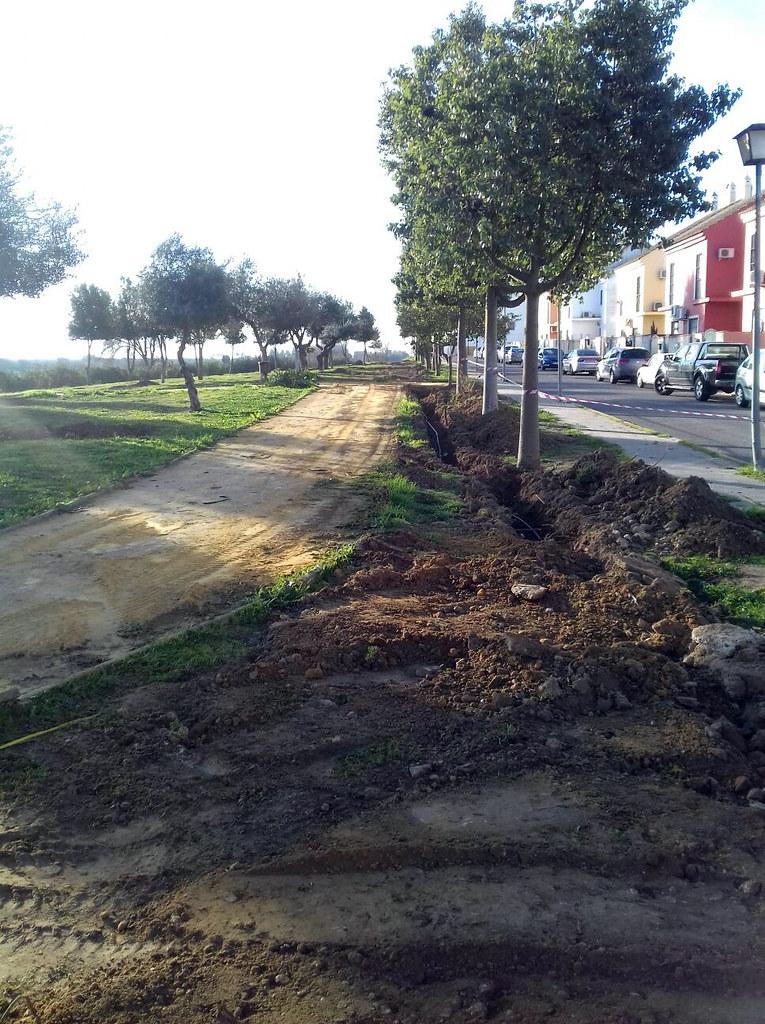 """Obras del Supera V de Diputación de Sevilla, correspondientes al Proyecto """"Adecuación de parques y jardines"""""""
