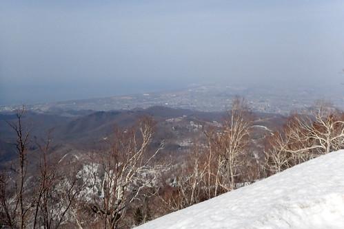 残雪の手稲山