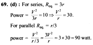 NEET AIPMT Physics Chapter Wise Solutions - Current Electricity explanation 69