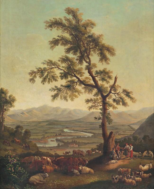 Karl Postl - Pastieri pod stromom (1800)