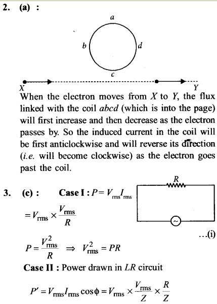 NEET AIPMT Physics Chapter Wise Solutions - Electromagnetic Induction and Alternating Current explanation 2,3