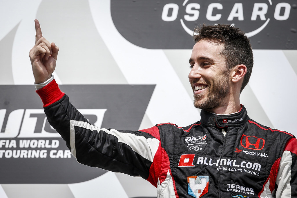 GUERRIERI Esteban (ARG), ALL-INKL.COM Munnich Motorsport, Honda Civic  TCR, portrait podium ambiance during the 2018 FIA WTCR World Touring Car cup of Nurburgring, Nordschleife, Germany from May 10 to 12 - Photo Francois Flamand / DPPI