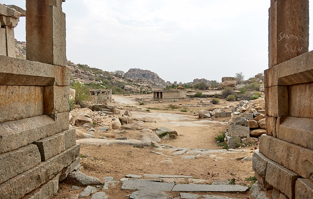 Road towards royal compound