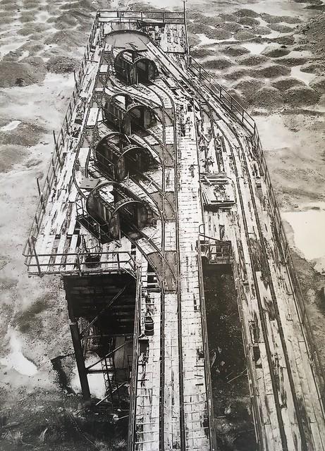 Britisch cargo van unloading terminal in Cyprus