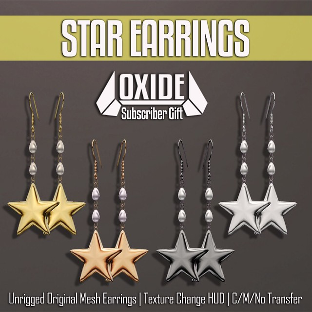 OXIDE Star Earrings - Subscribers Gift
