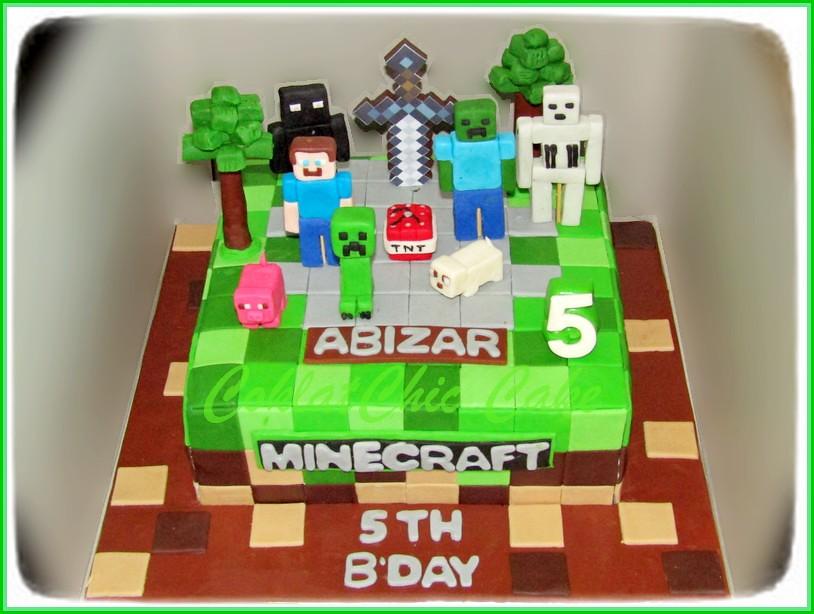 Cake Minecraft ABIZAR 20 cm