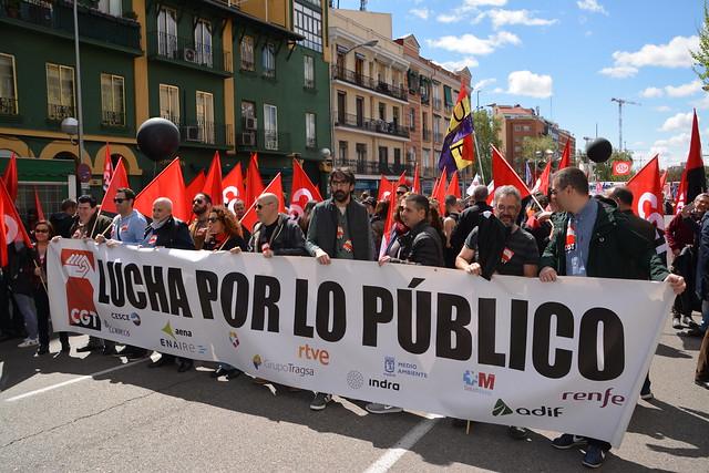 Manifestación 1º de Mayo de 2018 en Madrid