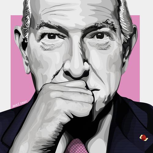 """Oscar de la Renta. From San Antonio Art Gallery Hosts """"Latino Faces"""" Art Exhibit by Analy Diego"""