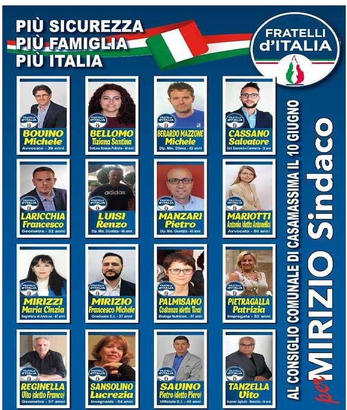 Elezione Casamassima 2018 Liste 4