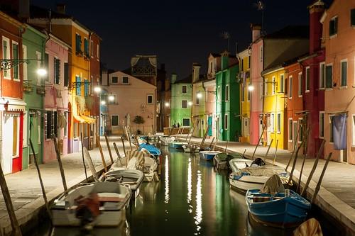 Burano (Venice-Italy) by night