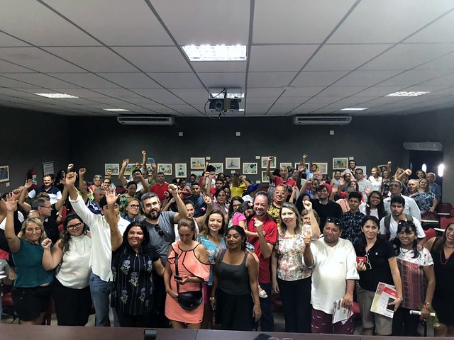 Plenária sobre as eleições de 2018 com Rachel Marques e Acrísio Sena em Fortaleza