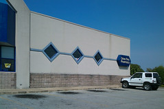Former Horn Lake Rite Aid, east side walls with diamond windows
