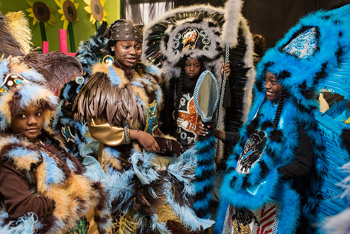 Wild Opelousas excitedly prepares to show their suits to classmates and teachers on Febuary 8, 2017. Photo by rhrphoto.com.