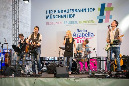 Arabella Band auf dem Bahnhofsfest