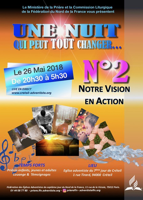 2018-05-AFFICHE Nuit 2 de prière & Louange 2- 2018