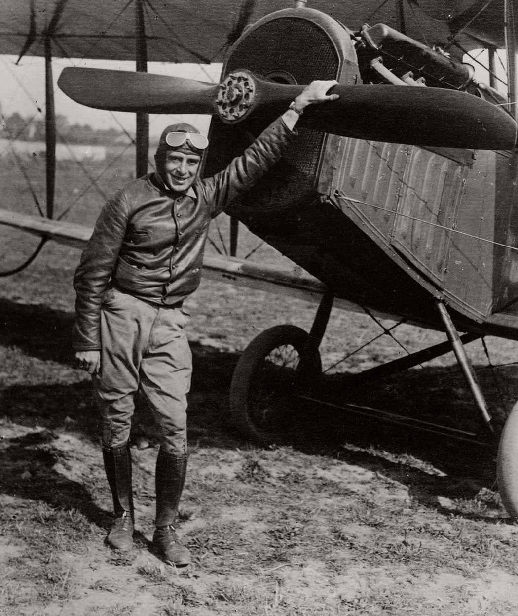 Air Mail pilot Eddie Gardner in 1918.