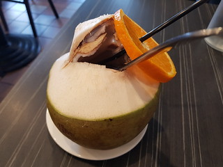Coconut juice at Eat Mii