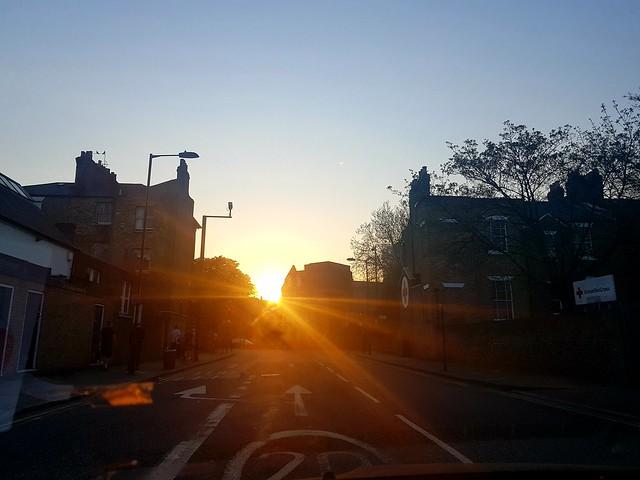 London UK Hackney Sunset