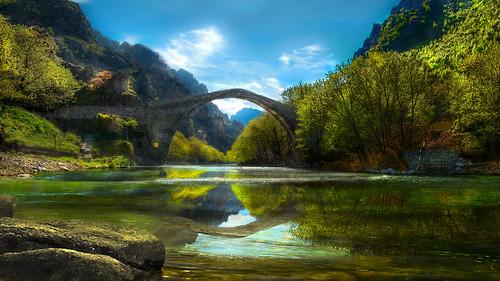 konitsa greece stonebridge landscape river aoos reflection shchukin sigma nikon nikond5200