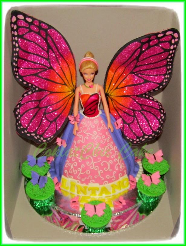 Cake cupcake Barbie Mariposa Lintang 18 cm