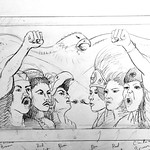 Los Supersonicos Mural Sketch - In Sight On Site: Murals