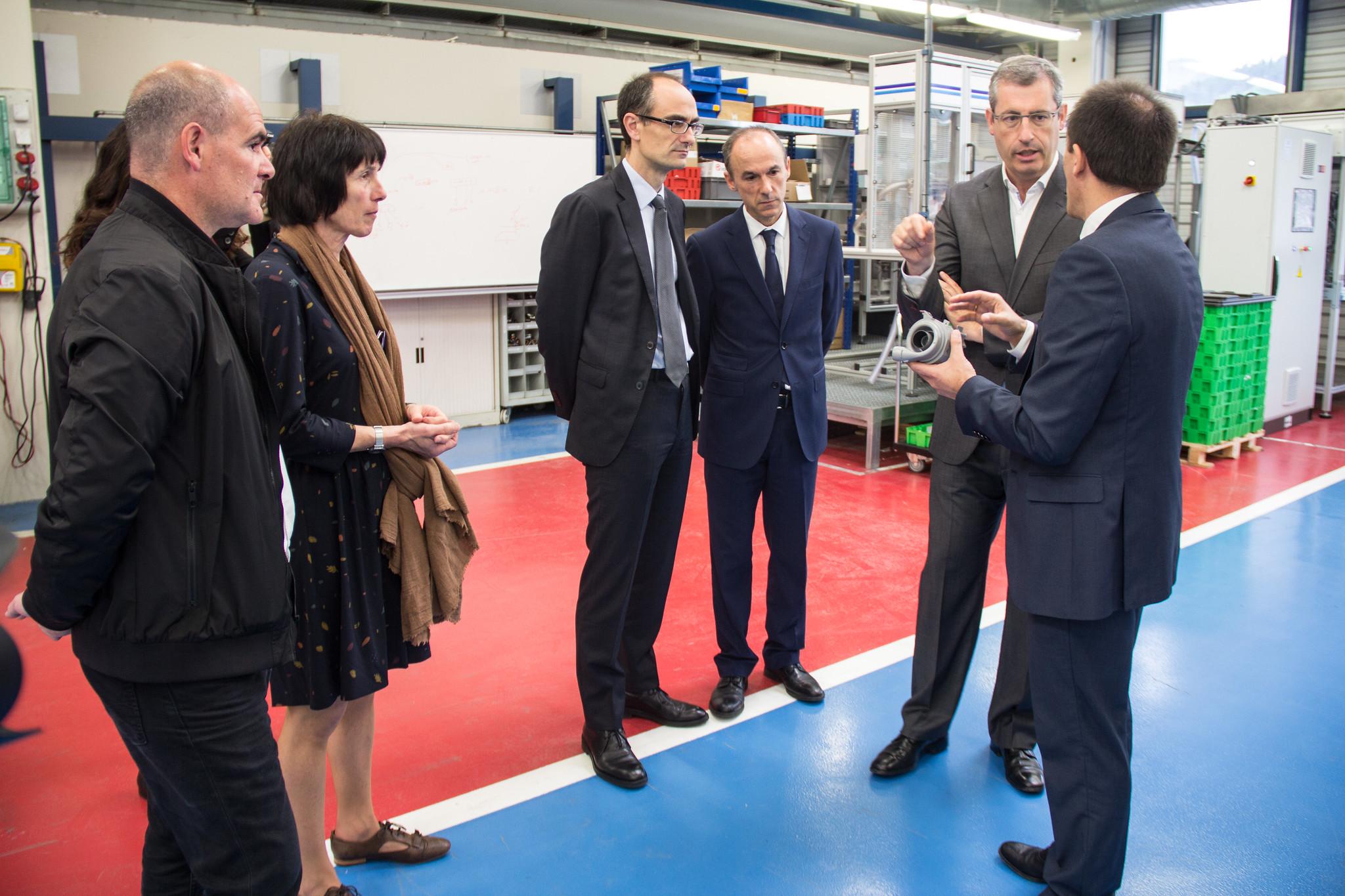 El diputado general Markel Olano visita Copreci