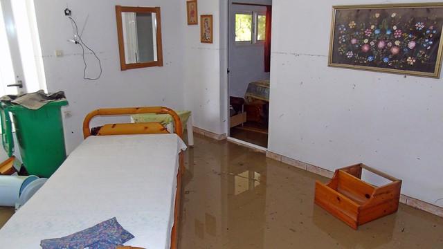 Πλημμύρες στην Βασιλική Λευκάδας