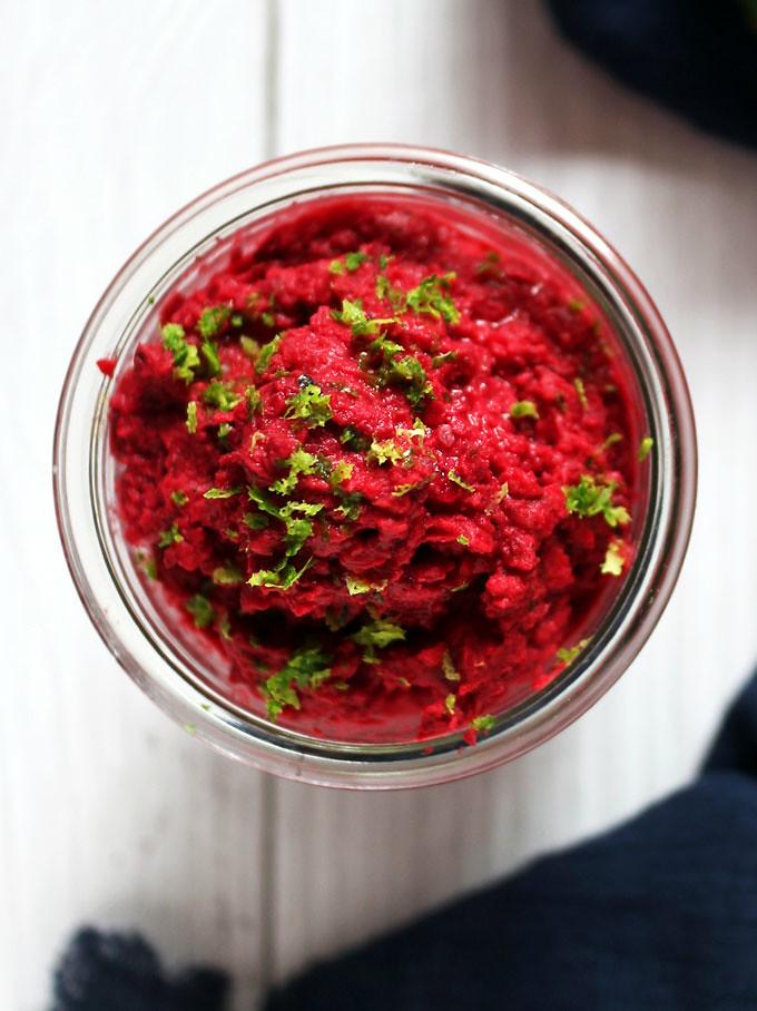 甜菜根鷹嘴豆泥 (純素) beet-hummus (5)
