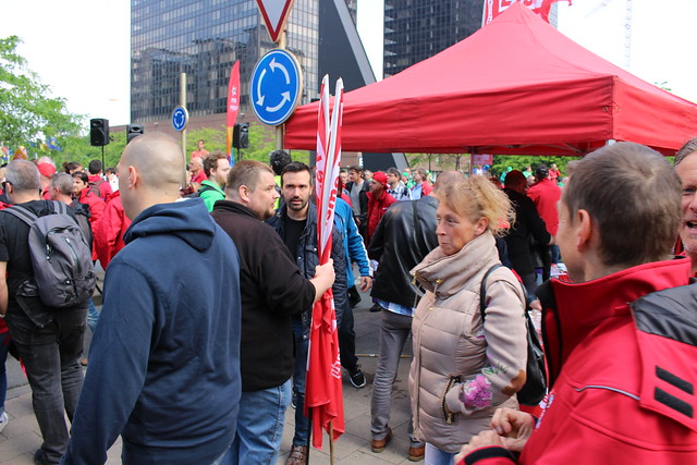 Pensioenbetoging ^manif pensions // foto's door Wilfried