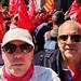 Defendiendo el sistema público de pensiones, rodeando el banco de España en defensa de nuestras pensiones. #PensionesDignas
