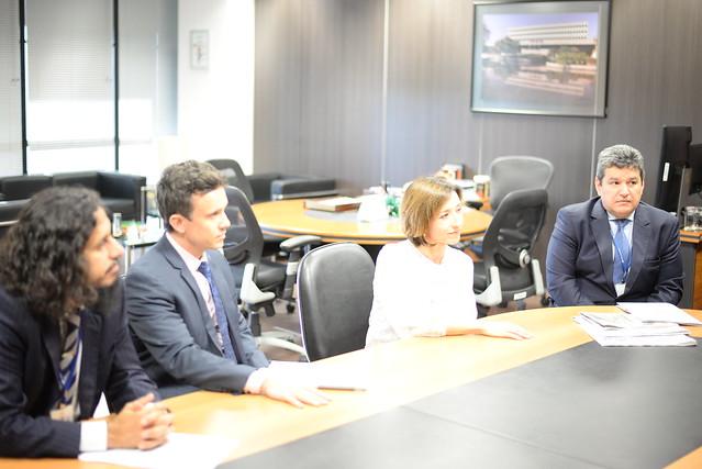 Visita de Representante da ONU ao gabinete do vice-presidente