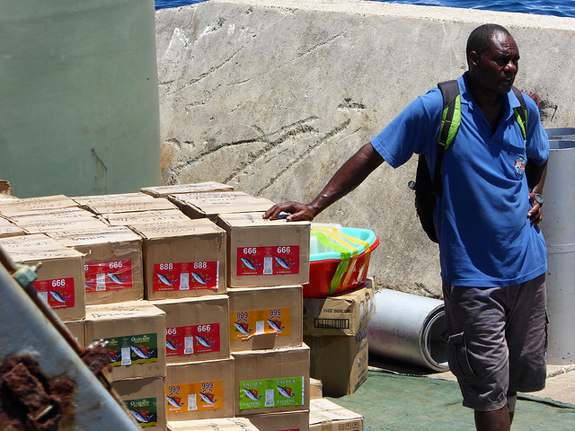 Imported Tinned fish is rapidly replacing locally caught sustainable fish in the Pacific