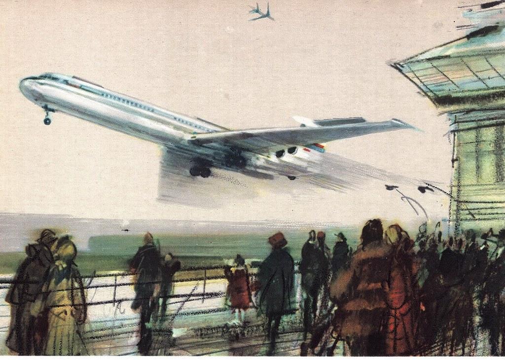Janusz Grabiański - LOT - Polish Airlines - Ilyushin IL-62