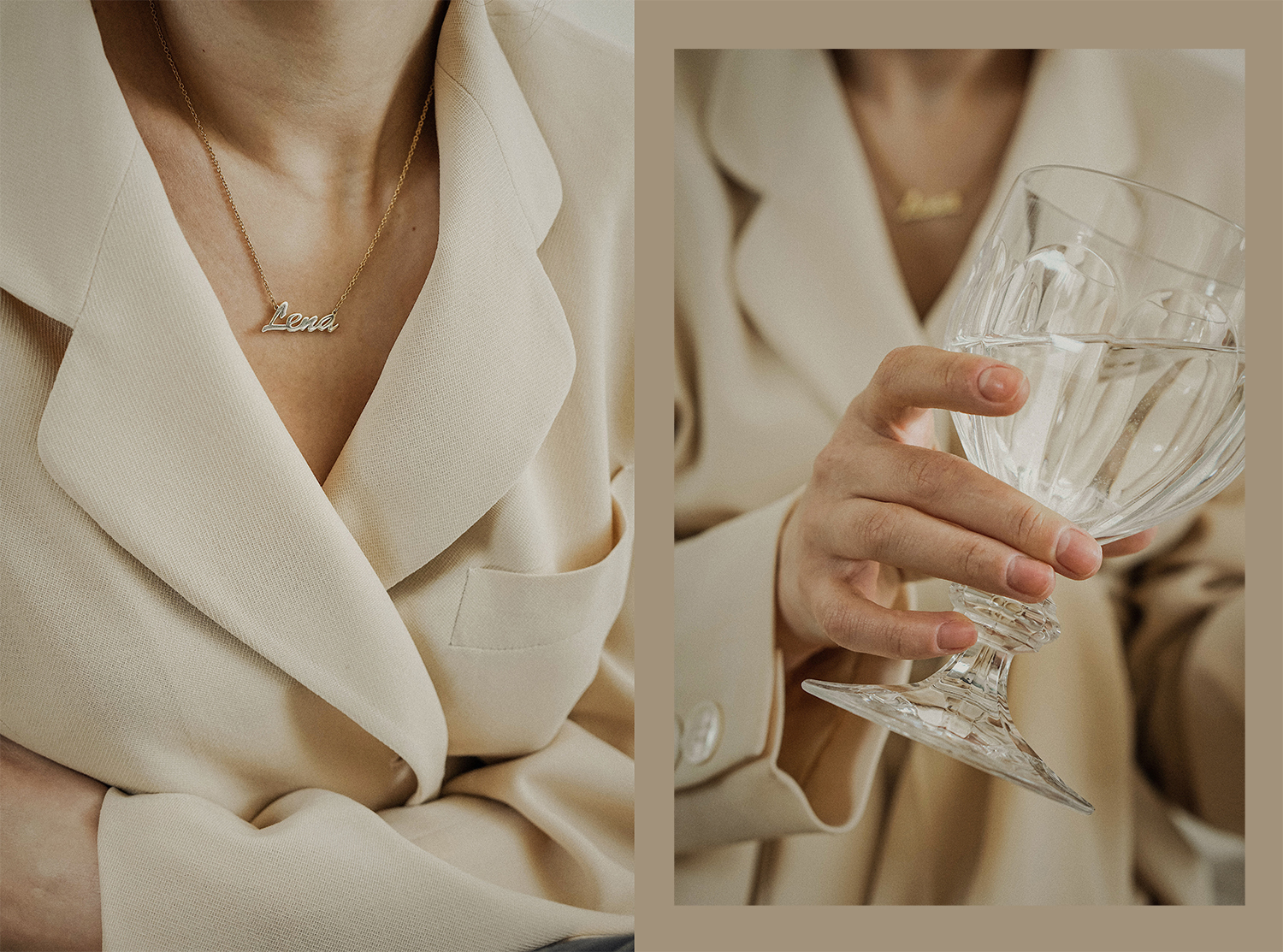 soufeel_name_necklace_nude_neutral_donna_karan_suit_fashion_style_lenajuice_thewhiteocean_03